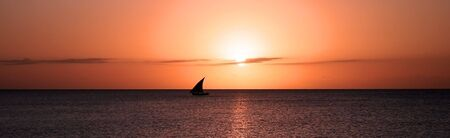 Panoramic image of sunset in Zanzibar Stock Photo - 5709227
