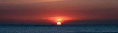 Panoramic image of sunset in Zanzibar Stock Photo - 5709226