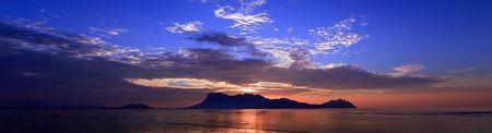 Panoramic image of sunset in Borneo Stock Photo - 5720372