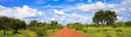 Panoramic road in Burkina Faso