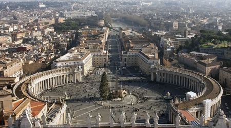 view of St. Peters Square at the Vatican photo