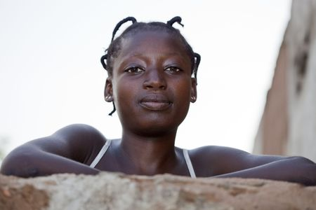 african ancestry: Country Bissa,Burkina Faso - August 9,2009 : Woman posing Bissa, ethnicity Bissa represents 4% of the population of Burkina Faso, are animist religion.