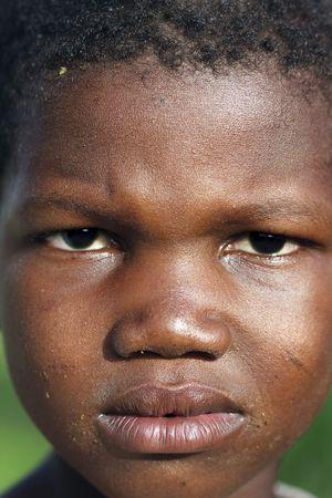 Country Bissa,Burkina Faso - August 9,2009 : Child Bissa ethnic posing, the Bissa represent 4% of the population of Burkina Faso.