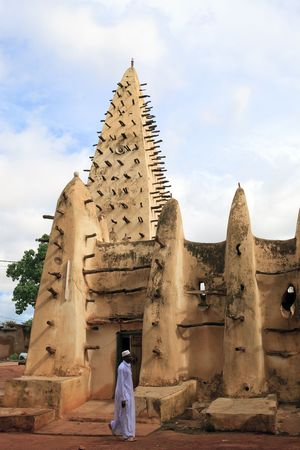Bobo Dioulasso,Burkina Faso - August 14,2009 : Grand Mosque in Bobo Dioulasso, Sudanese style built in 1880. Editorial