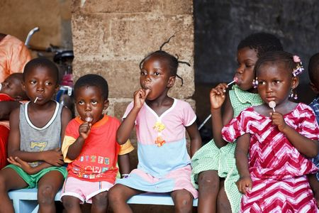 Ouagadougou,Burkina Faso - August 22,2009 : Orphanage in Ouagadougou, Hundreds of children abandoned on the streets are victims of poverty or illness.