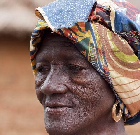 expectancy: Country Senoufo,Burkina Faso - August 13,2009 : Elder Senoufo, life expectancy in Burkina Faso is around 48 years.