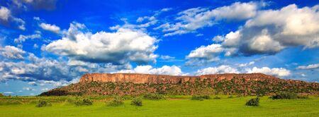 Imagen panorámica de Malí de país Dogon