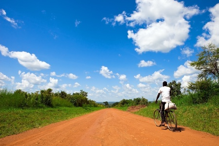 Ugandan road  Stock Photo - 9142212