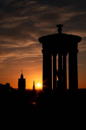Sunset in Edinburgh photo