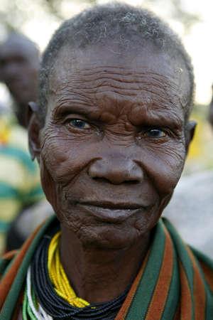 UGANDA - AUGUST 9: Elder of the Karamojong ethnic group, live in northeastern Uganda, is currently in the process of disarmament, August 9, 2010 in Karamoja, Uganda Stock Photo - 9144313