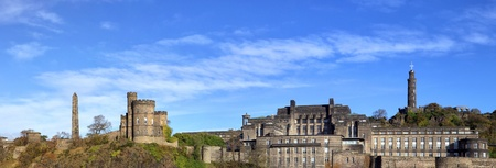 Panorámica de Calton Hill, Edimburgo  Foto de archivo