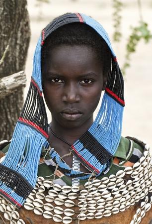 omo valley, ethiopian, august 10, 2011 - women of ethnic tsemay, tsemay are the shepherds who inhabit the lower omo.