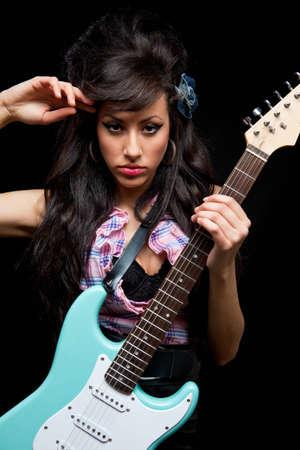 sexy guitar: Women rock with guitar