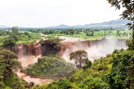 Falls en Bahir Dar Etiopía Foto de archivo