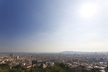 Wide view over Barcelona