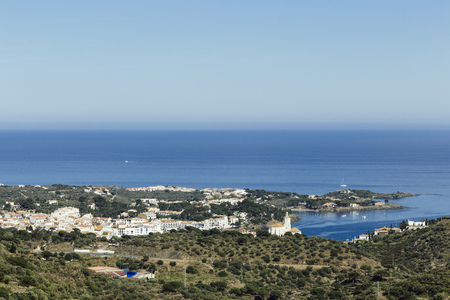 A sunny day in Cadaqués, Costa Brava Stok Fotoğraf - 123322564