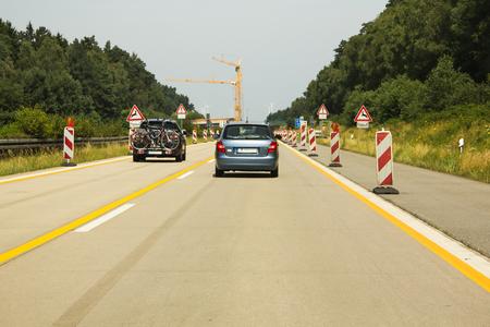 Highway construction site Фото со стока