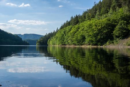 Hohenwarte artificial lake