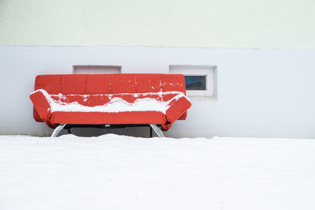 Couch in the snow