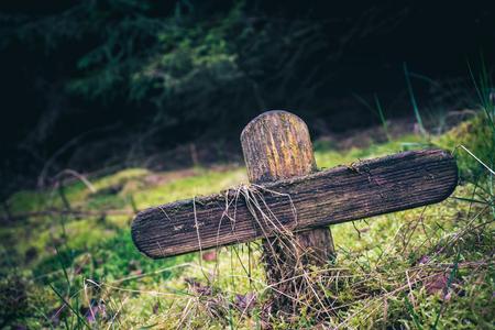 Lonely cross 免版税图像