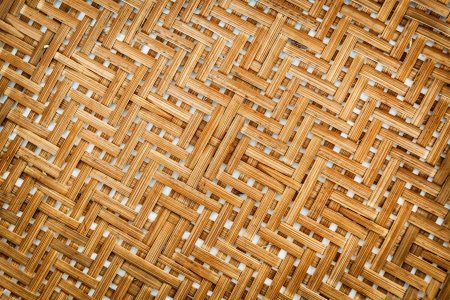 Native Thai style bamboo wall, natural wickerwork photo