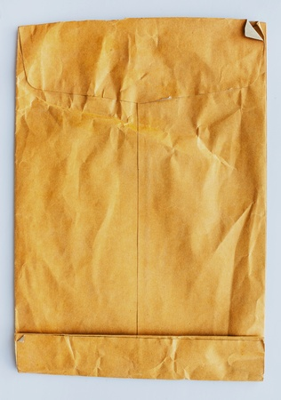 old envelope: old brown envelope isolated on white background