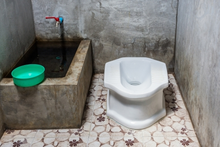 privy: Thai traditional old toilet