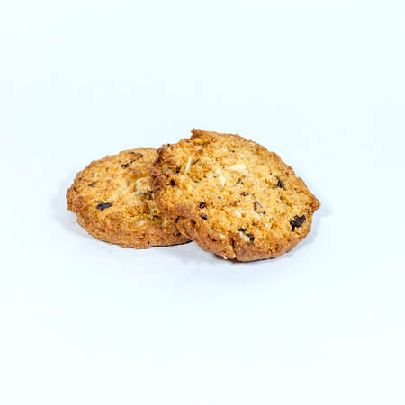 Cookie homemade pastry biscuits isolated on white background photo