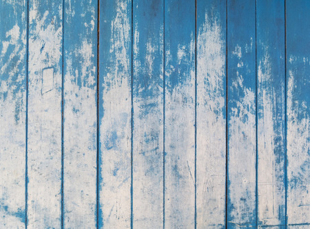 blue texture of rough wooden fence boards background photo