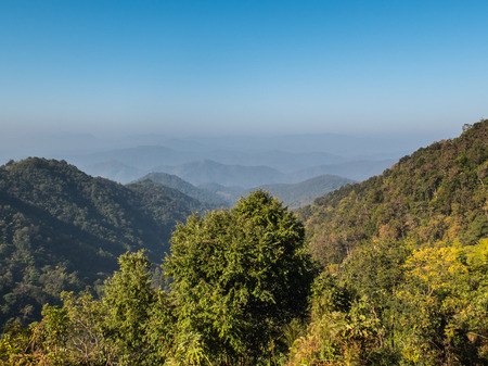 Mountain viewpoint at samoeng in chiang mai,Thailand photo