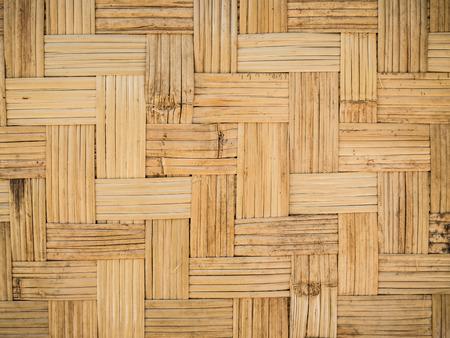 trabajo manual: Textura de madera de bamb�, trabajo hecho a mano tailandesa