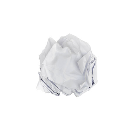 wastrel: paper ball on isolate white background