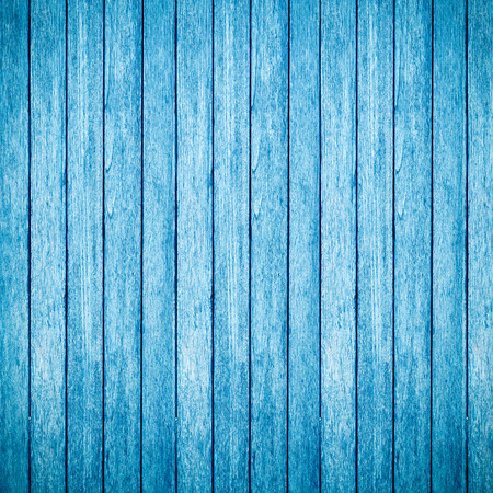 Blue wooden background and texture
