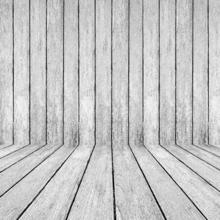 White wood perspective background for room interior photo
