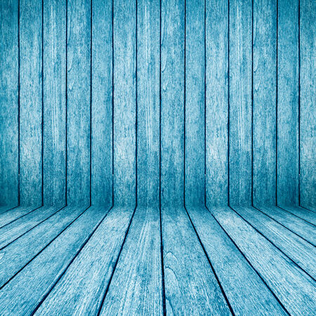 blue wood perspective background for room interior photo