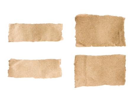brown torn paper set