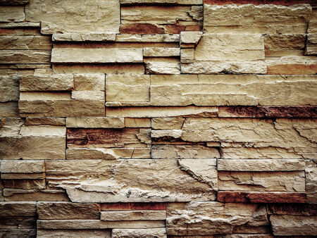 old pattern of decorative slate stone wall surface photo