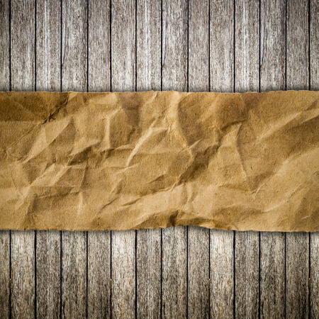 Old wood and paper torn with space for text Stock Photo