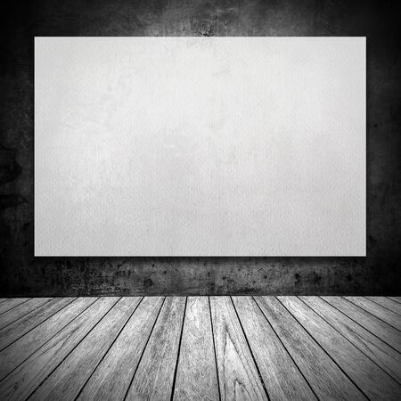 white paper on wall grunge room and background photo