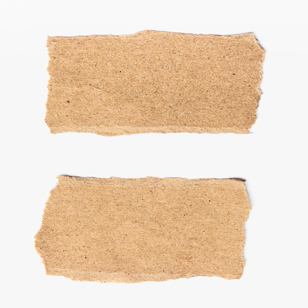 banner craft: two torn paper on isolated on white background