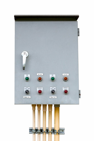 control box on isolated white with clipping path. photo