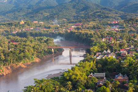 Viewpoint and landscape in luang prabang, Laos. photo