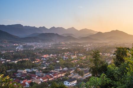 Viewpoint and landscape at luang prabang , laos. photo