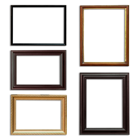 Frame picture set on isolated white background photo
