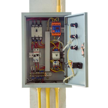 control box: close up control box  Stock Photo