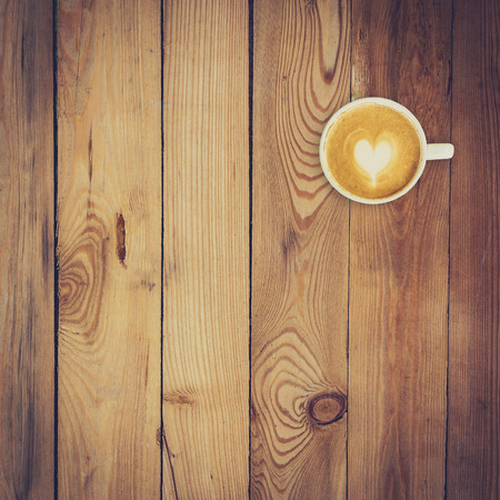 texture background: Latte coffee on wood background and texture with space