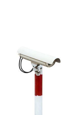 cctv security: CCTV security camera on white background with clipping path