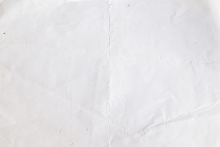 old crumpled white paper background