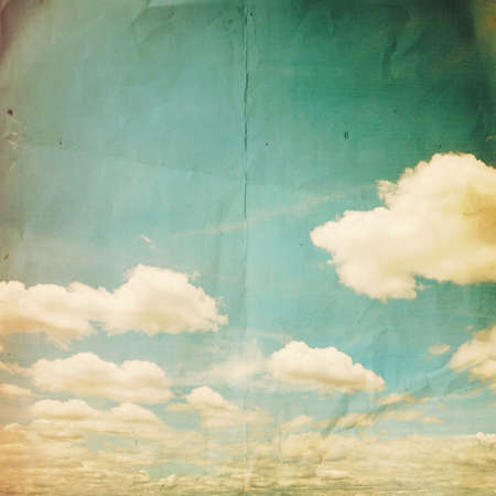 puffy: grunge clouds vintage and texture Stock Photo