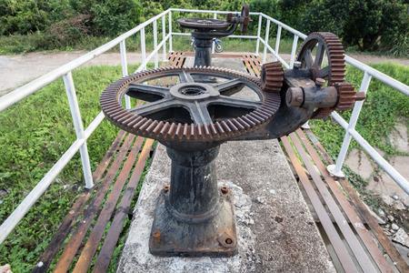 sluice: old rust gear of sluice